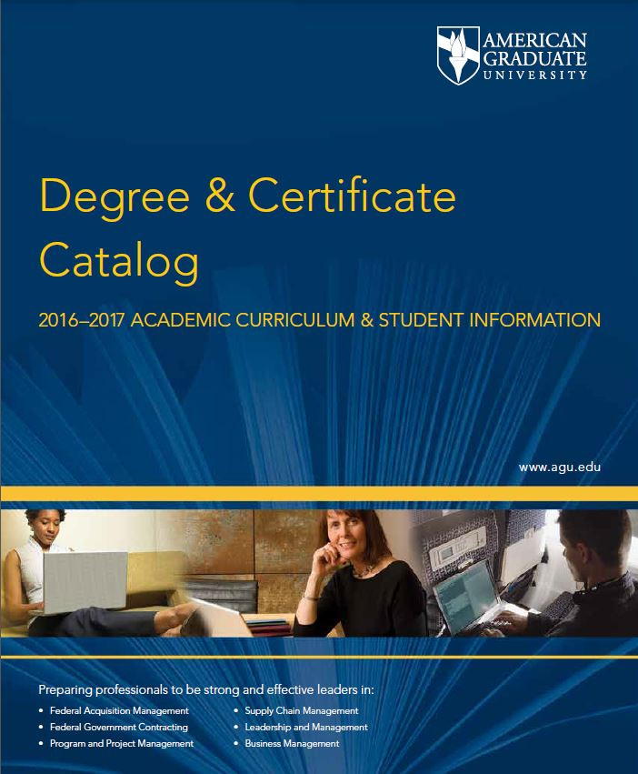 AGU Degree & Certificate Catalog