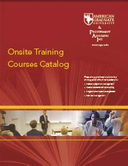 AGU Onsite Training Resources Catalog